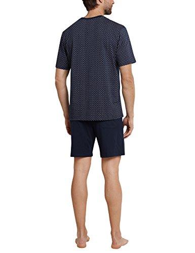 Schiesser Herren Zweiteiliger Schlafanzug Anzug Kurz Blau (Dunkelblau 803)