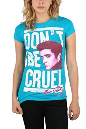 Elvis Presley - Don't Be Cruel Womens T-Shirt in Tourquoise, Size: X-Large, Color: Tourquoise