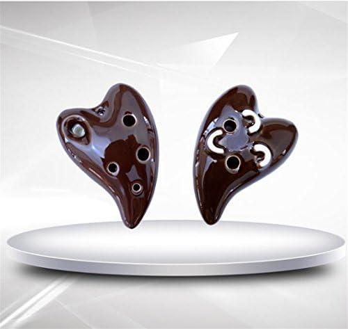 Kolimo Jouet Musical Amour Ocarina 6 Trou Porcelaine Flûte Flûte Flûte Artisanat Décoration Bijoux sans Cordon (Café) B07HDP2ZJC 5b08be