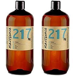 Naissance Huile de Ricin (n° 217) Pressée à froid - 2 litres (2 x1L) – 100% pure, végan, sans hexane, sans OGM