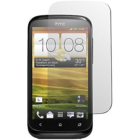 2 x HTC Desire X protector de pantalla claro Películas Protectoras