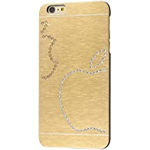 iShield® 6 Plus Light Luxury Cases with Crystals from Swarovski® for iPhone 6,6S Plus - Case Type: iShield® 6 Plus Light Case Champagne Due Mele d'Oro