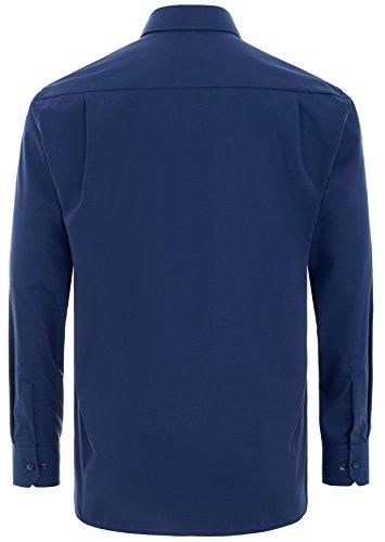 Eterna - Comfort Fit - Bügelfreies Herren Langarm Hemd mit Kent Kragen in verschiedenen Faren (8500 E147) Blau (19)