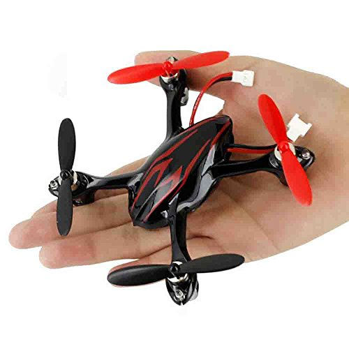 Hubsan Drohne H107C X4 Quadrocopter 2.4 Ghz 4 Kanal mit 480P Kamera (Rot Schwarz) - 8