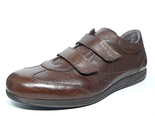 Fluchos Schuhe Mann Klettverschluss–erhältlich in den Farben schwarz und braun Leder–�?486–�?5und 30N Braun