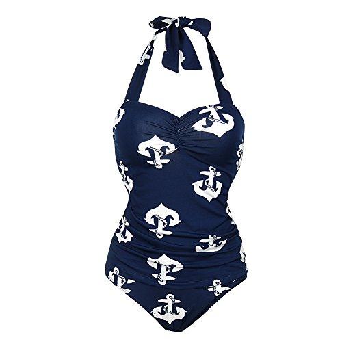 FeelinGirl -  Costume intero  - Donna Navy(Anchor)