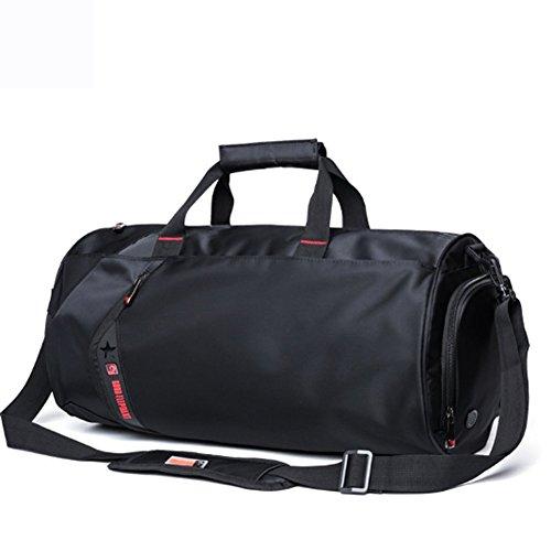 YAAGLE Sporttasche herren groß Reisetasche Reisegepäck multi Umhängetasche Schultertasche für Fitness tasche für Wanderung, Trekking, Ausflug und Dienstreise schwarz