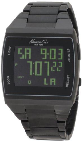 Kenneth Cole New York Unisex KC3927 Digital Black Screen Dial Watch [Watch]