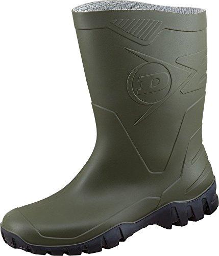 Dunlop Dee Kurzstiefel -Gummistiefel,Regenstiefel, Arbeitsstiefel Oliv