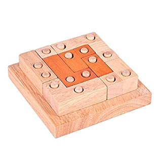feiyanfyQ Wooden Building Blocks Kong Ming Luban Lock Adults Kids Puzzle Educational Toys