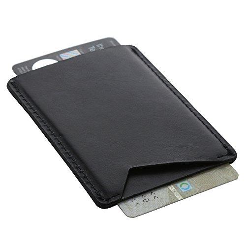XiRRiX RFID Schutzhülle Kreditkartenetui Schutz aus Leder für 2 Karten - blockiert das Auslesen RFID/NFC card Chip - blocking Kartenetui