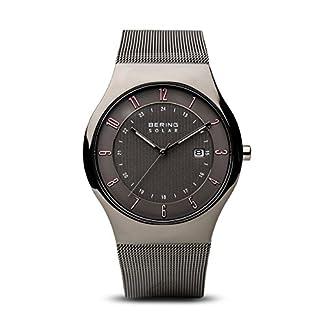 BERING Reloj Analógico para Hombre de Energía Solar con Correa en Acero Inoxidable 14640-077