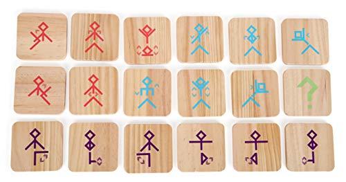 small Foot 12028 Tanzspiel Active aus FSC 100%-zertifiziertem Holz für Erwachsene und Kinder ab 3 Jahren, Bewegungsspiel mit Tanz Spielzeug, Mehrfarbig