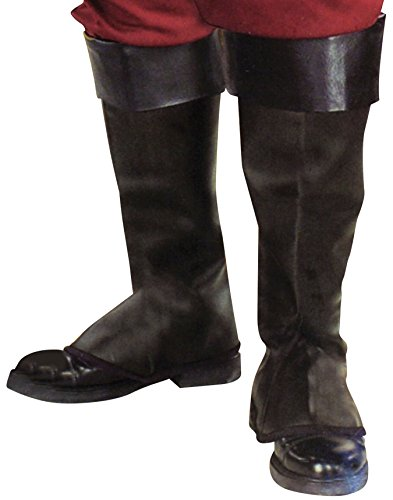 Vinyl Black Pirate Costume Boot Tops Child One Size -