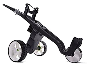 GO KART AUTOMATIC ELECTRIC GOLF TROLLEY LITHIUM 36 HOLE BATTERY & CHARGER (Black)