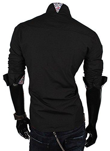 Tazzio - Chemise casual - Avec boutons - Homme Noir - Noir