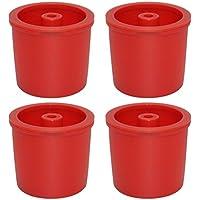 Homyl 4 Piezas Cápsula de Llenado Filtro de Café Reutilizable Recargable Para Illy - Rojo