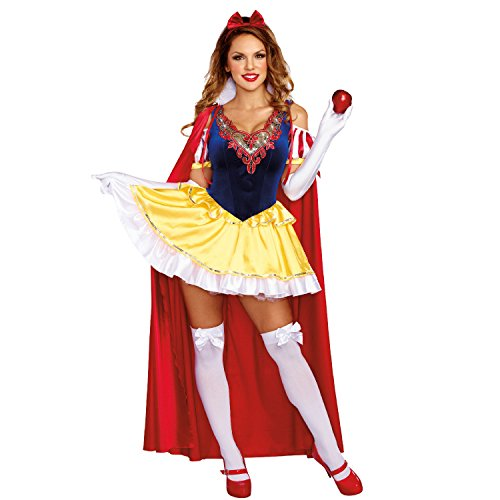 Dreamgirl Damen-Kostüm - Schneewittchen Sassy Kostüm