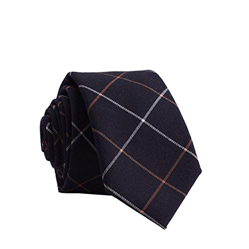 ZSRHH-Neckchiefs Halstücher Pfeil-Art beiläufige Baumwolldruck-Krawatte benutzerdefinierte Männer Gentleman Retro weiße braune Streifen Krawatte (Color : Blue, Size : Gift Box) -