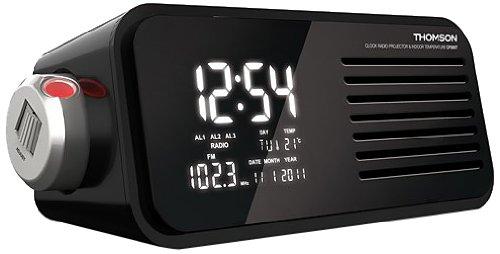 Thomson CP300T - Radio despertador con proyector, negro