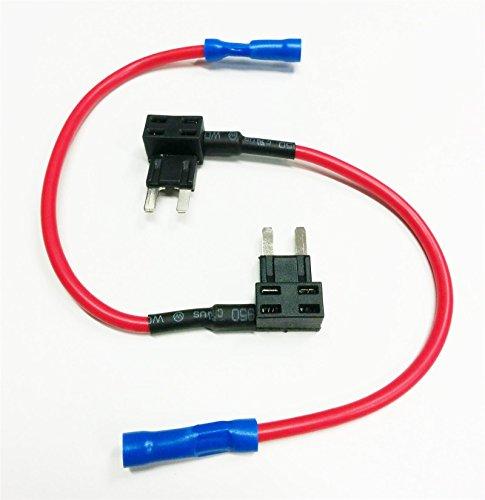 2x-Add-A-Circuit-Fuse-Tap-Piggy-Back-Mini-Blade-Fuse-Holder-Atm-Apm-12V-24V-Volt