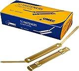 Umec 129394 - Pack de 50 fasteners metálicos, color dorado