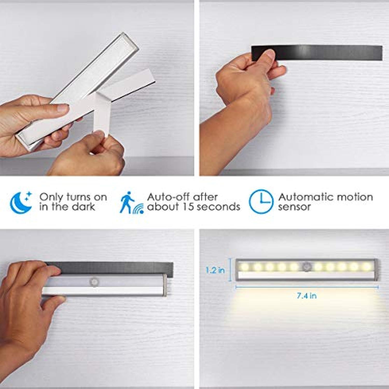 12 LEDs USB Rechargeable Veilleuse LED avec adh/ésif 3M Armoire Lampe D/étecteur de Mouvement Lumi/ère darmoire avec Bande Magn/étique pour Cabinet Jirvyuk Lampe de Placard Escalier-2Pack Placard