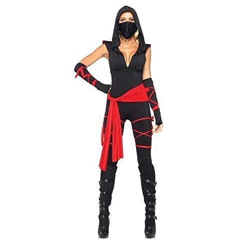 Shisky Halloween kostüm Damen, Halloween Maske weibliche Ninja Spiel einheitliche Cosplay Kostüm Party Kostüm