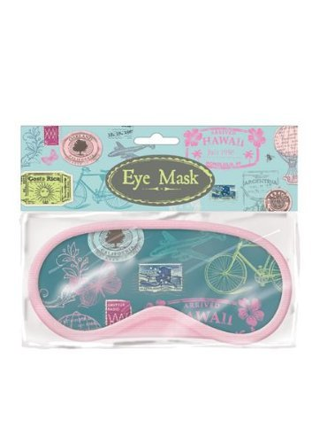 Vintage Augenmaske/Schlafmaske Schlafmaske Schlafsack Travel Rest Hilfe Augenbinde Relax Retro Vintage Stempel Design -