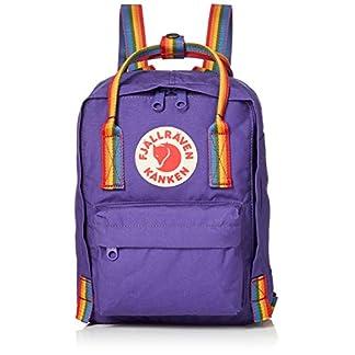 41zzrNbKiyL. SS324  - FJALLRAVEN Kånken Mini Mochila, Unisex Adulto, (Purple/Rainbow Pattern), Talla Única