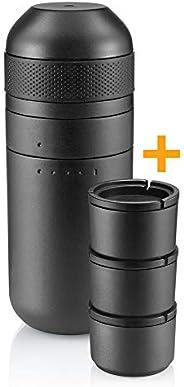 WACACO Minipresso Kit, Accessory for Portable Espresso Coffee Machine Minipresso GR Larger Water Tank Double E