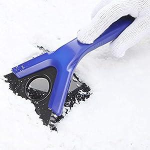 Koowaa Leichte multifunktionale Schneeräumschaufel Auto Schneeräumschaufel tragbare Schneereinigungswerkzeug für Auto Outdoor Camping und Garten