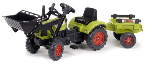 falk claas traktor Falk Traktor für Kinder - Bagger - Claas Arion 410 + Anhänger, 2040CM