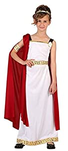 Atosa-6612 Disfraz Romana, Color Blanco, 5 a 6 años (6612