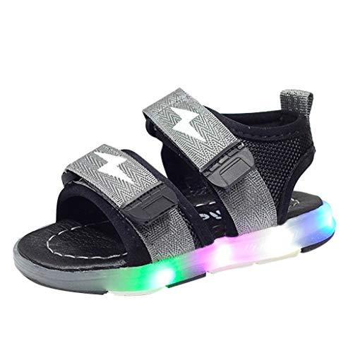 Kinder Sport Sandalen Kleinkind leuchtenden Sandalen Kinder LED leuchten Schuhe Sommer Jungen & Mädchen Baby Touch Befestigung Flache Turnschuhe Kind Schuhe für Alter 12 Monate - 6 Jahre