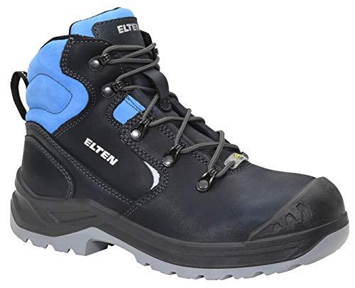 ELTEN Sicherheitsschuhe LENA blue Mid ESD S3, Damen, Lederschuh, robust, leicht, Blau, Stahlkappe - Größe 39
