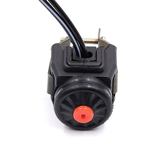 elegantstunning Accessoire de Moto de Fond avec Interrupteur de Flamme et Interrupteur de klaxon Noir