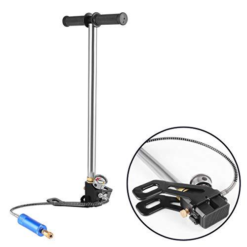 Huntforgold Manuelle Hochdruck Luftpumpe Set Tauchluftpumpe mit Manometer für 0.5L Mini Sauerstoffflasche