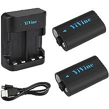 YiVine 2500mAH NI-MH Batería (Xbox One) para Mando Inalámbrico Xbox One/Xbox One X/Xbox One S/Mando Elite Wireless con cargador dual inteligente