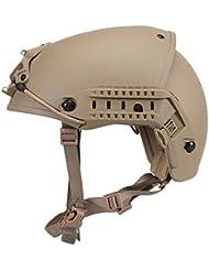 OneTigris Airsoft Paintball Protector ABS ligero fuselaje estilo casco con NVG Mount, canela