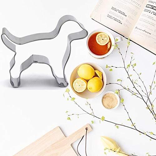 dfgjdryt Praktische Ausstechformen in Hunde-Form, Keks-Ausstechform, zum Basteln, bunt, Edelstahl Back-Werkzeuge für Heimdekoration