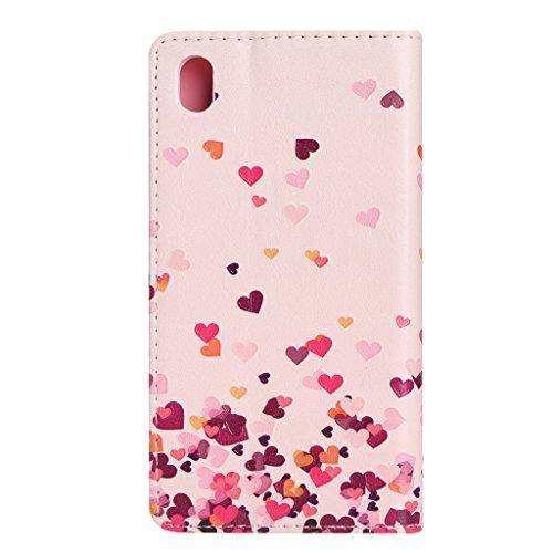 Galaxy Note 5 Hülle mit Frei Hartglas Displayschutzfolie, BoxTii Galaxy Note 5 Schutzhülle mit Kartenfächern Ständer Funktion Magnetverschluss, Kratzfeste Wickelfalz Weiche PU Lederhülle Ledertasche m #8 Pink