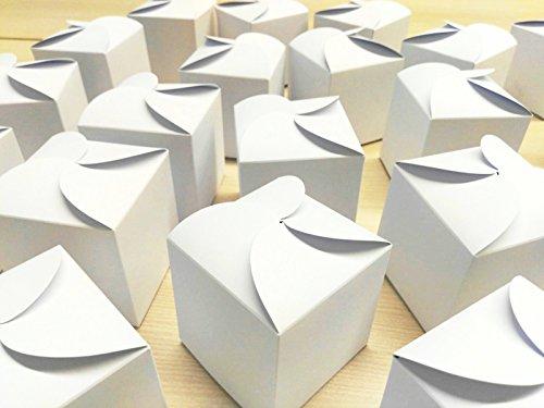 Do it Yourself Adventskalender   24 weiße Geschenkboxen   kleiner Karton Schachteln Bastelset Faltboxen Gastgeschenk Wichteln Weihnachten Hochzeit Kinder-Geburtstag selber-falten bemalen befüllen