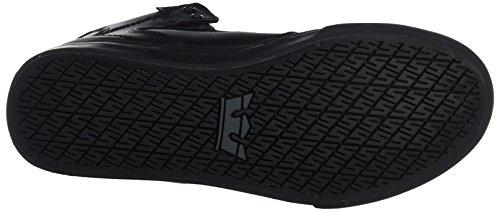 Supra - Vaider, Pantofole Unisex – Bambini Schwarz (Black-Black)