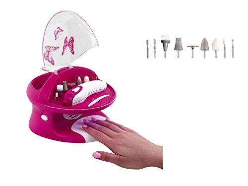 4in1 Maniküre und Pediküre Set Nageltrockner Nagelbad mit Sprudelfunktion Akku (Manikür, Pedikür, Fusspflege, Elektrische Nagelfeile, Hornhautentferner) (Nagel-sets Für Teenager)