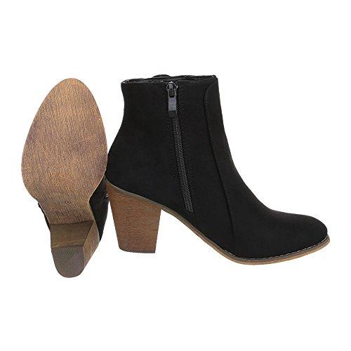 Ital-Design , Bottes et bottines cowboy femme Noir