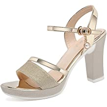 Color Amazon Dorado Sandalias es Plata qwzfO