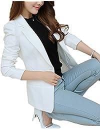 Tailleur cotone bianca giacca giacche Amazon it e Donna nxvwq4TF 5a67188a0532