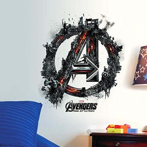 EdmendYang 3D Las Figuras de superhéroes Avengers Vinilo Pegatinas de Pared para Habitaciones de niños de PVC decoración del hogar decoración 1456