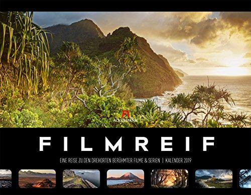 Filmreif - Filmschauplätze 2019, Wandkalender im Querformat (54x42 cm) - Filmkalender mit Hintergrundinformationen für Filmfans mit Monatskalendarium